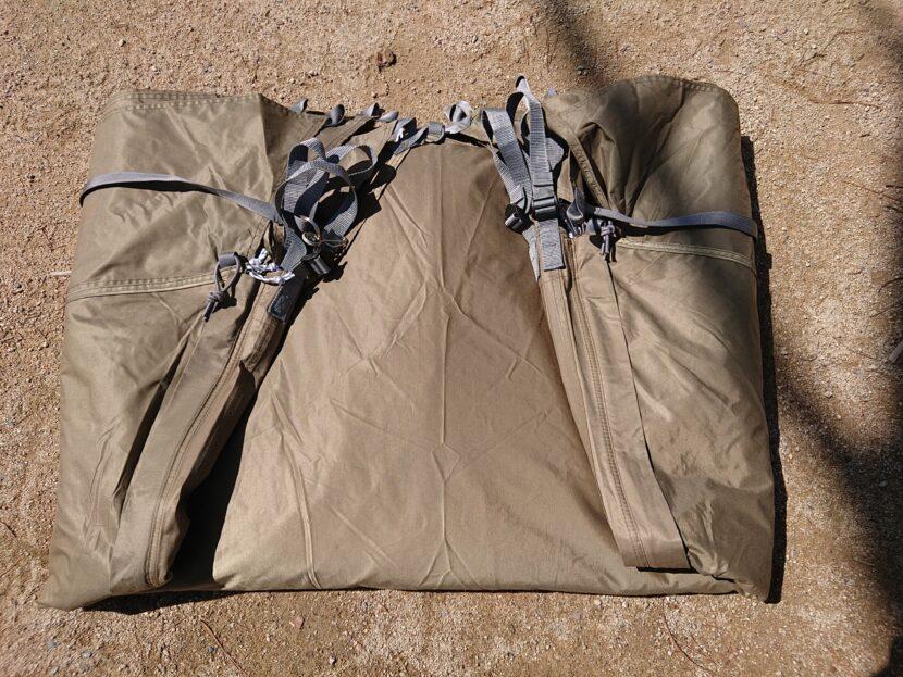 テントの収納方法イメージ10左