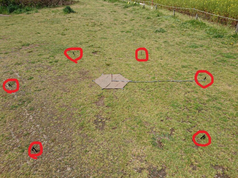 テントの設営方法イメージ12右