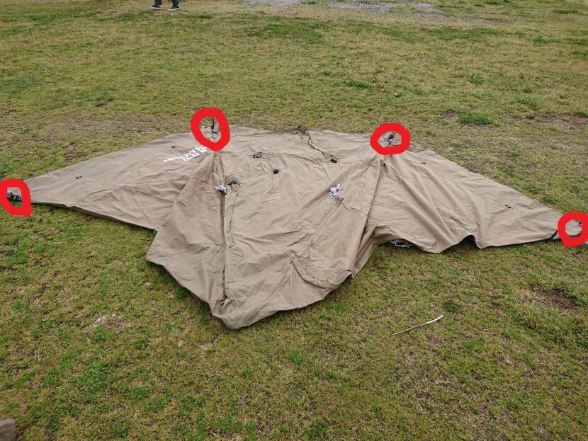 テントの設営方法イメージ14左