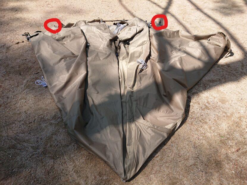 テントの収納方法イメージ6右