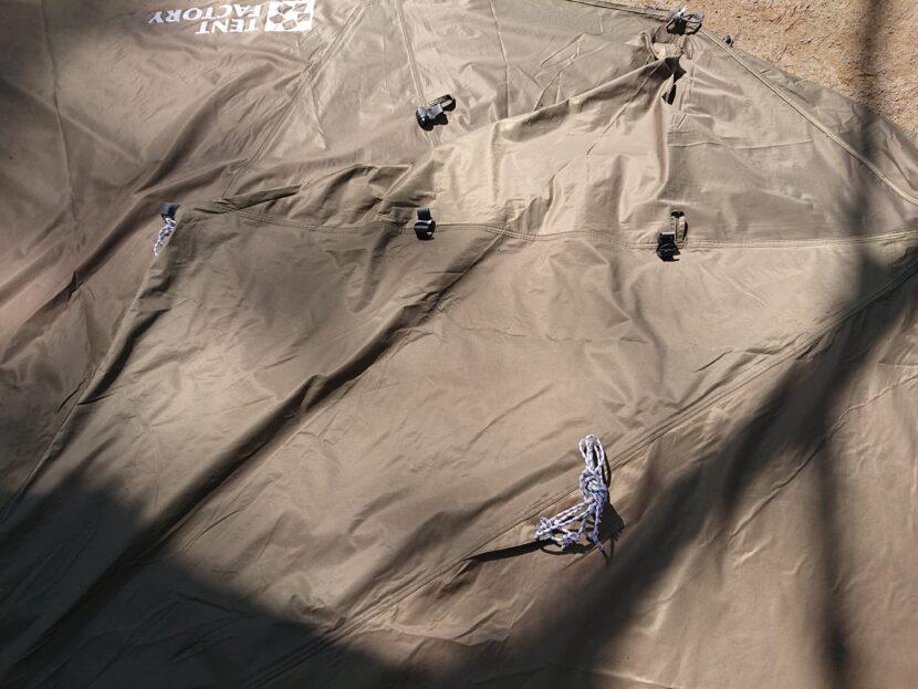 テントの収納方法イメージ7右