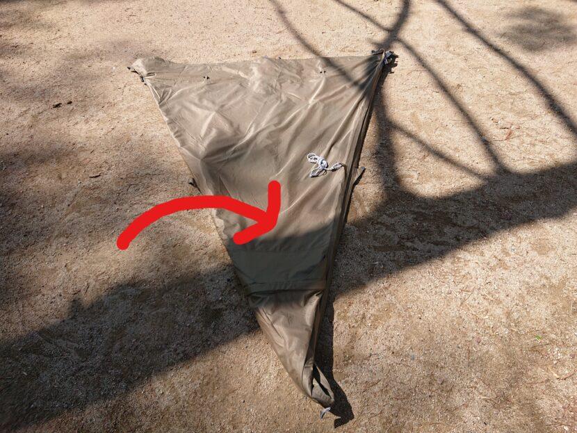 テントの収納方法イメージ8右
