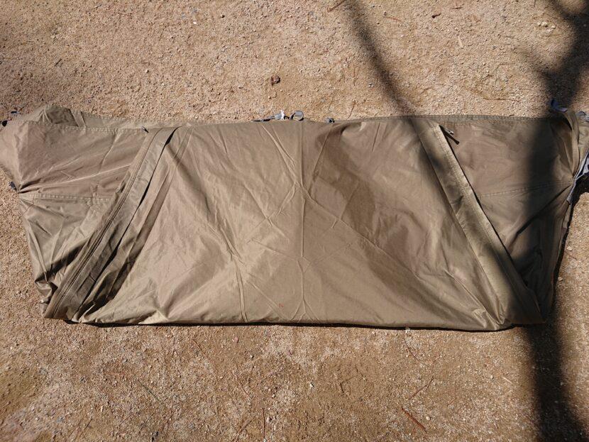 テントの収納方法イメージ9右