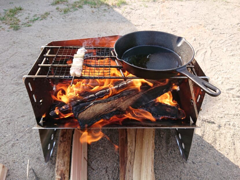 薪グリルで料理をしてみてイメージ1